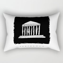 Parthenon in ink Rectangular Pillow