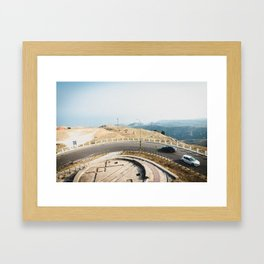 On the roof of Gargano Peninsula Framed Art Print