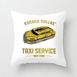 Korben Dallas' Taxi Service - New York Throw Pillow