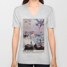 Arms for Russia Unisex V-Neck