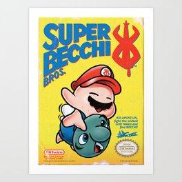 SUPER BECCI BROS. (V1) Art Print