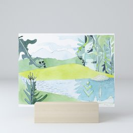 Bigelows from Stratton Brook Pond, Maine Mini Art Print
