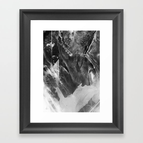 Black Crystal Framed Art Print