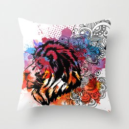 Lion Spirit Throw Pillow