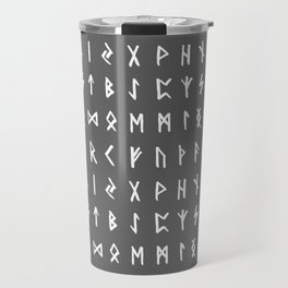 Nordic Runes // Grey Travel Mug