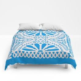 Fiesta de Flores in Party Blue Comforters