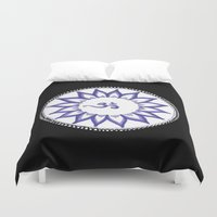 ohm Duvet Covers featuring Ohm Flower by Michelle_