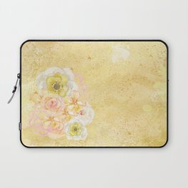 Yellow Floral Watercolor Laptop Sleeve