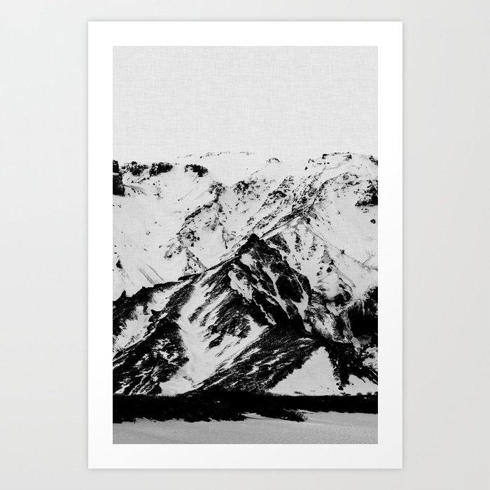 Minimalist Mountains Kunstdrucke