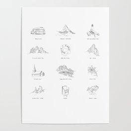 European Road Trip Poster