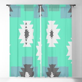 Minimal tribal decor in blue Blackout Curtain