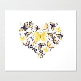 Butterflies heart Canvas Print