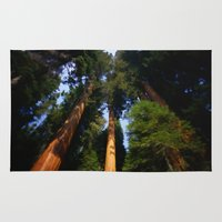 giants Area & Throw Rugs featuring Giants by Tami Cudahy