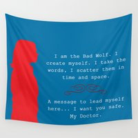 bad wolf Wall Tapestries featuring Bad Wolf by Grace Thanda