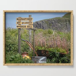 Easdale signs of life. Serving Tray