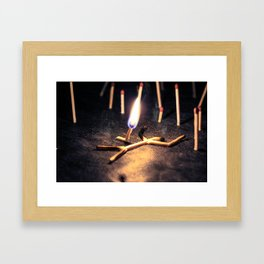 THE GREAT FIRE Framed Art Print