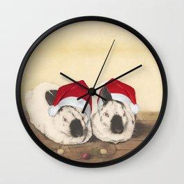 Christmas Rabbits Wall Clock