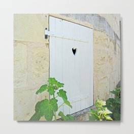 Heart Shaped Door - France Metal Print