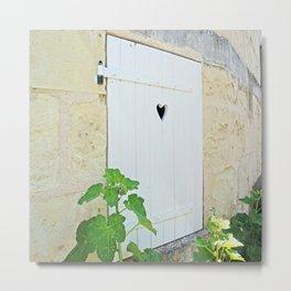 Heart Shaped Door - France Metal Print