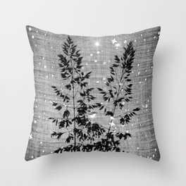 Delicate grasses - light and shadow #2 Throw Pillow