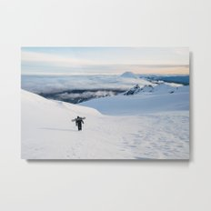 Hiking to the top of Tongariro Metal Print