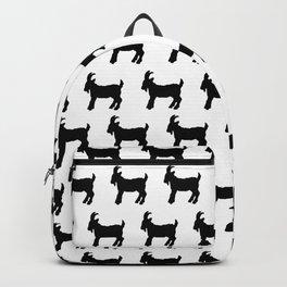 Black & White Goat Print Backpack
