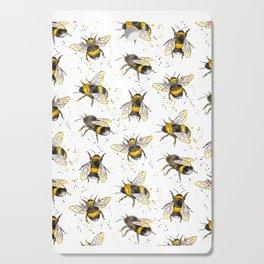 Fluffy Bumblebees (Pattern) Cutting Board