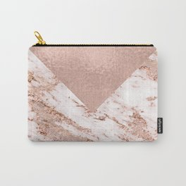 Pastel pink warm rose marble Carry-All Pouch