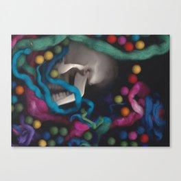 Skull and Felt 3 Canvas Print