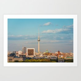 Berlin City Skyline - Cityscape and Tv Tower in Berlin, Germany Art Print