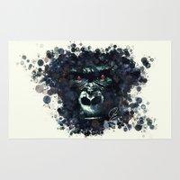 gorilla Area & Throw Rugs featuring Gorilla by Rene Alberto