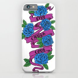 roses with live, laugh, love iPhone Case