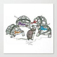 ninja turtles Canvas Prints featuring Ninja Turtles by Vickn