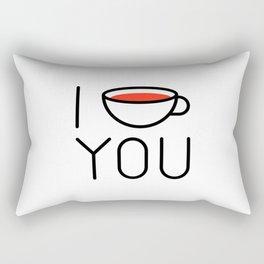 I Coffee You - Love, Coffeeholic Rectangular Pillow