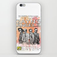 cyrilliart iPhone & iPod Skins featuring Zayn's Angels by Cyrilliart