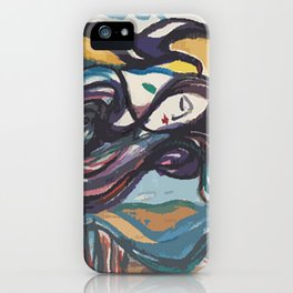 Leda and black swan iPhone Case