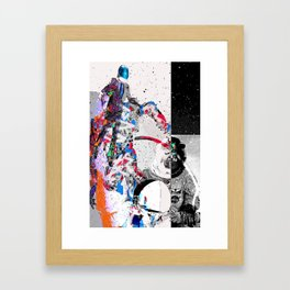 Space Lift Collage  Framed Art Print