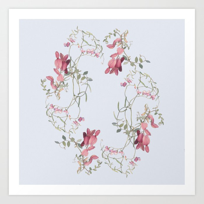 Country garden flowers Art Print