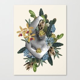 Orchid Statue Canvas Print