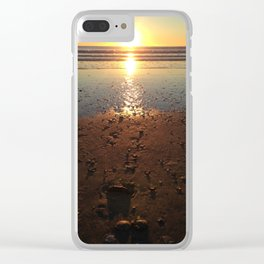 Sunrise waves Clear iPhone Case