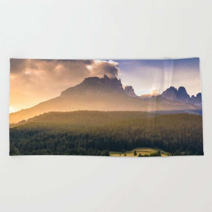 The Mountains Are Calling Beach Towel