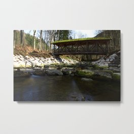 The bridge on the mountain river 2 Metal Print