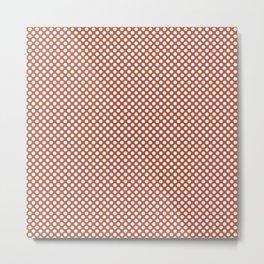 Autumn Glaze and White Polka Dots Metal Print