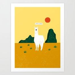 Llama a tu Mama Art Print