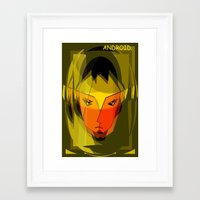 android Framed Art Prints featuring ANDROID. by capricorn