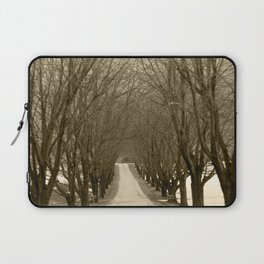 Tree Lined Road Laptop Sleeve