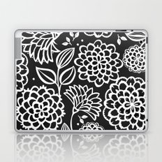 Pauli Floral Black and White Laptop & iPad Skin