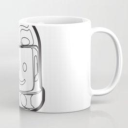 Vintage Spaceman Wireframe Minifig Coffee Mug