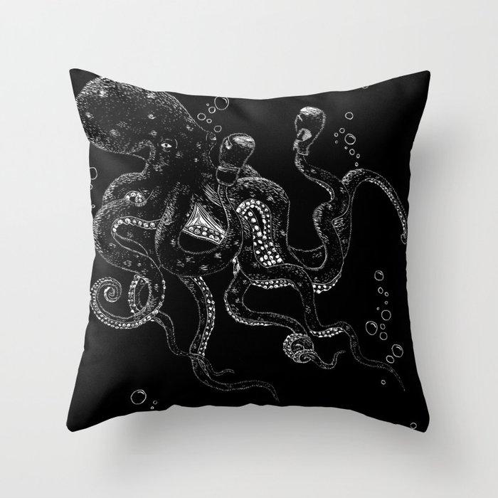 Aquatic Strongman Throw Pillow