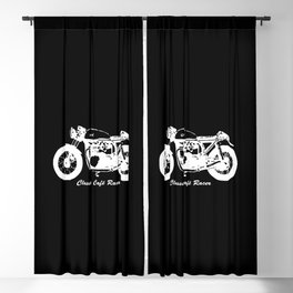 CAFE RACER MOTORCYCLE GIFTS,GIFT WRAPPED FOR CHRISTMAS FOR BIKE ENTHUSIAST Blackout Curtain